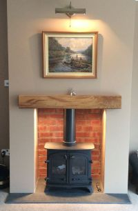 CP Wood Burning Stoves, Yeoman Exe with lighting and brick ...
