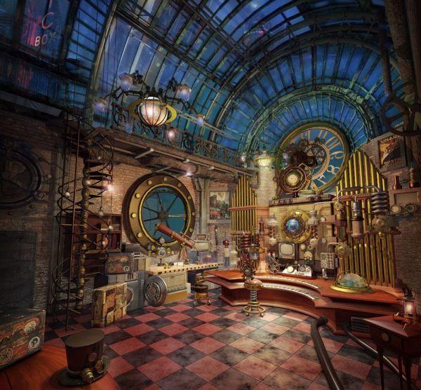 Steampunk Interior Design