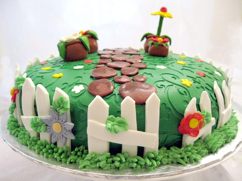 Flower Garden Cake Ideas Wedding Cake Landscape Design Theory
