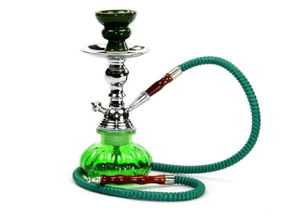 Hookah Smoking Shisha 1 Hose Green Smoke Bowl Glass Water