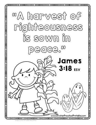 Fall Leaf Bible Verse Printables for Kids. Leaves, harvest
