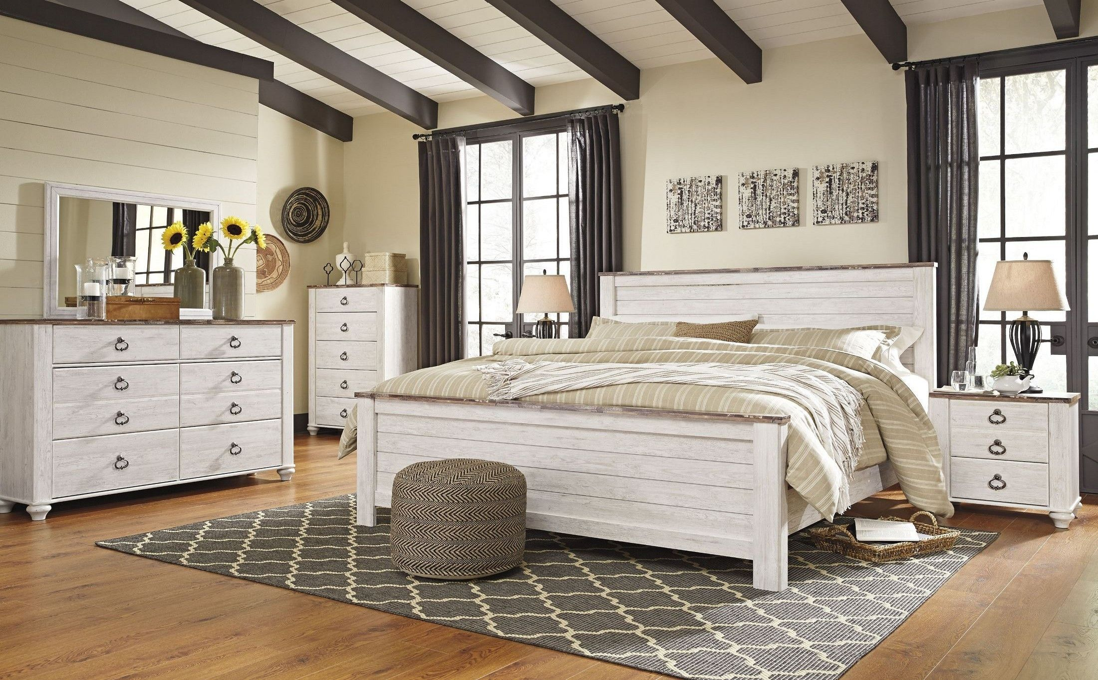Willowton Whitewash Panel Bedroom Set By Ashley Get The Guaranteed Best  Price And Free Delivery Directly