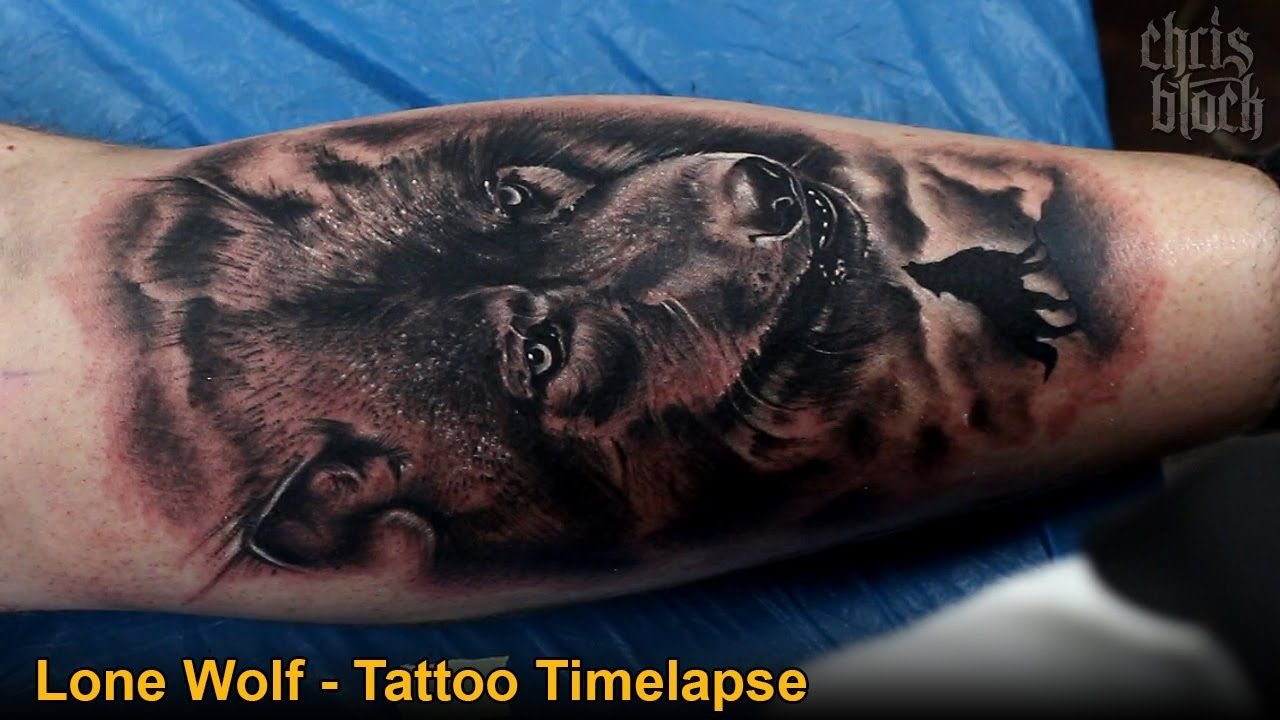 Chris Block Lone Wolf Tattoo Timelapse Hd  Youtube Red