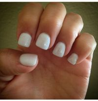 All white gel acrylic nails | Pretty stuff | Pinterest ...