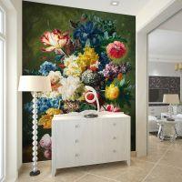 Retro Oil Painting Colorful Flowers Photo Wallpaper 3D Art ...
