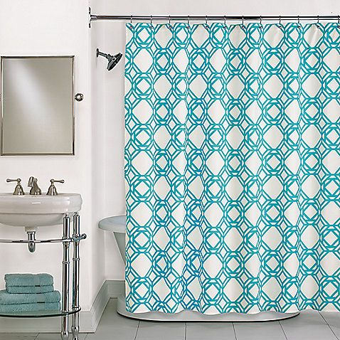Trinity Blue Shower Curtain In Blue Shower Curtains Pinterest