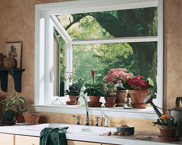 Grown Herbs On Back Smaller Bay Window Have A Window That Sticks