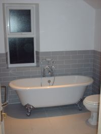 half tiled bathroom