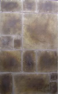 Wall panels. Galvanealed steel with patina finish. | walls ...