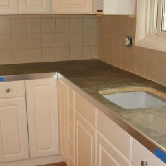 Glass Tile Kitchen Countertop Commercial Floor Cleaning Countertops Ceramic Installation
