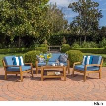 Christopher Knight Home Grenada 4-piece Outdoor Wood Chat
