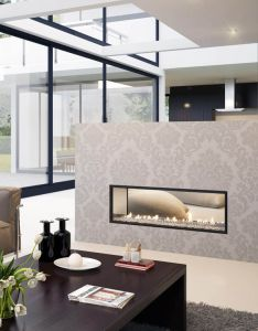 Two sided fireplace gives room ision open designs to warm your home also escea new zealand  dx series multiroom ducted heating design rh pinterest