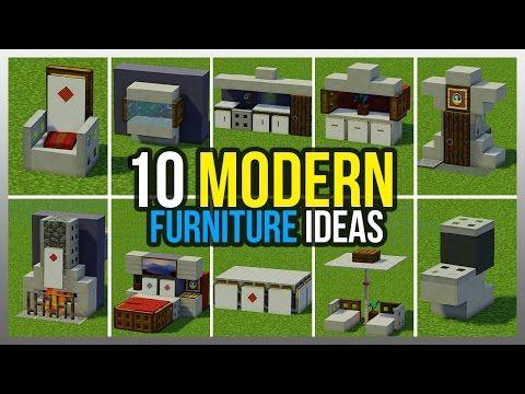 Minecraft Modern House Furniture Ideas Homeminimalis Com