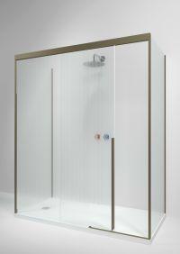 Rectangular glass shower cabin with sliding door SLIDING ...