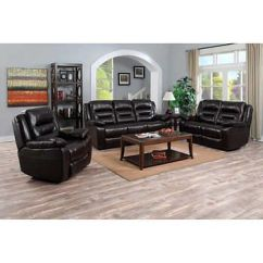 Fairfax 3 Piece Top Grain Leather Reclining Living Room Set Flooring Ideas For And Kitchen Garrison Sofa