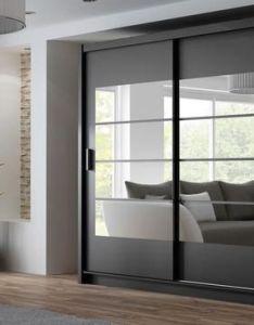 Instrument toronto sliding mirrored door wardrobe black cm  furniture also instruments rh pinterest