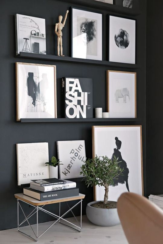 Black wall decor vintage and white home design interior inspiration also the cozy space architecture pinterest spaces interiors rh