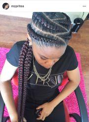 feed in cornrows braid styles