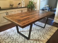 Reclaimed Wood Kitchen Dining Table, Reclaimed Pallet Wood ...