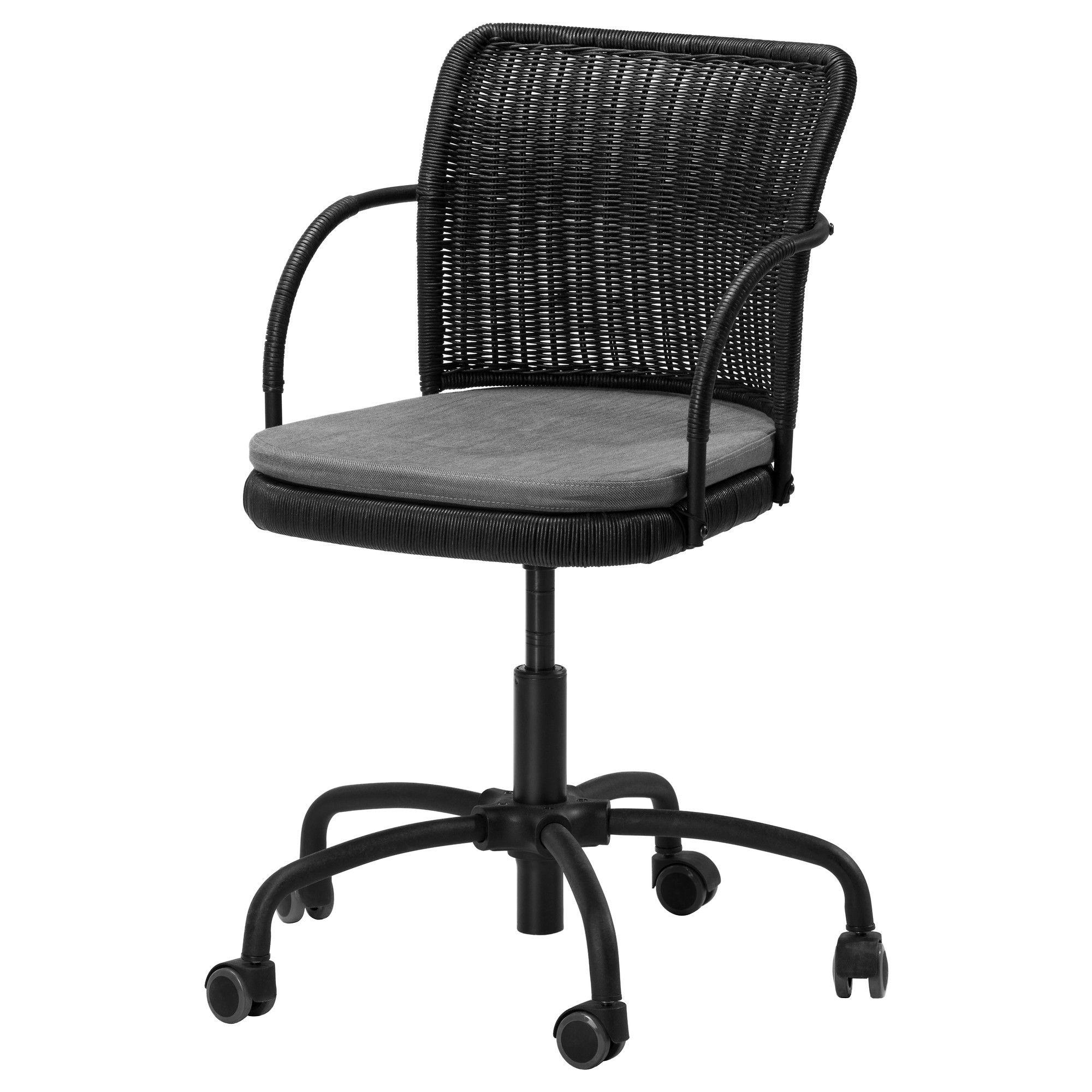 desk chair ikea pro beach low slung folding gregor swivel black svanby gray 100 nail