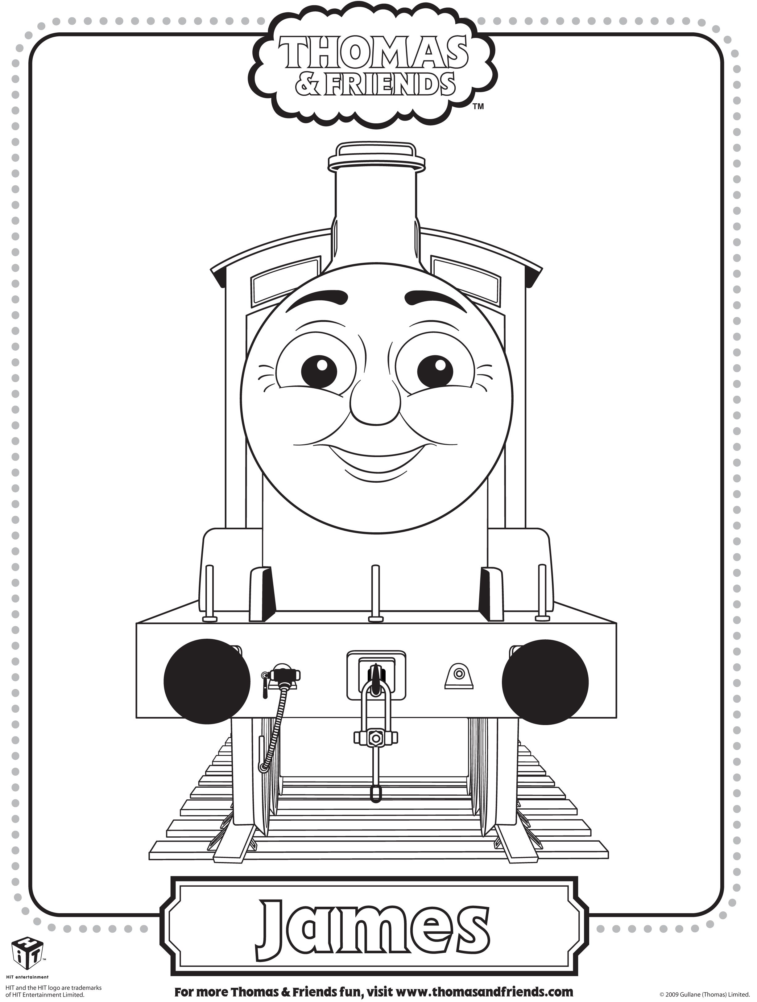Colouring Pages Of James In Thomas Tank