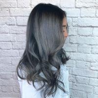 Dark grey hair with black roots | Hair | Pinterest | Dark ...