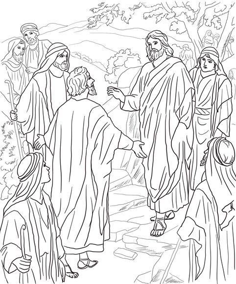 Peter's Confession of Christ Coloring page. Messiah