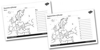 The Countries and Capital Cities of Europe Colour and