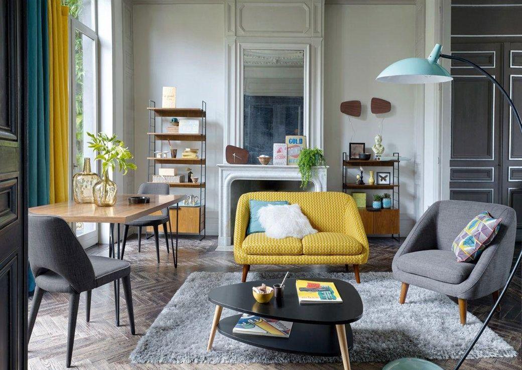 La tendance dco scandinave vintage blanc bois rotin pastel noirblanc jaune moutarde bleu