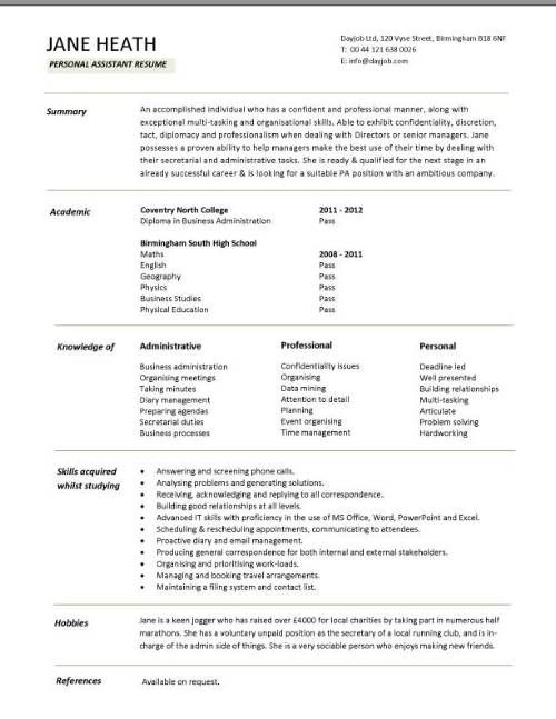 Resume Examples For Students  Examples Of Resumes