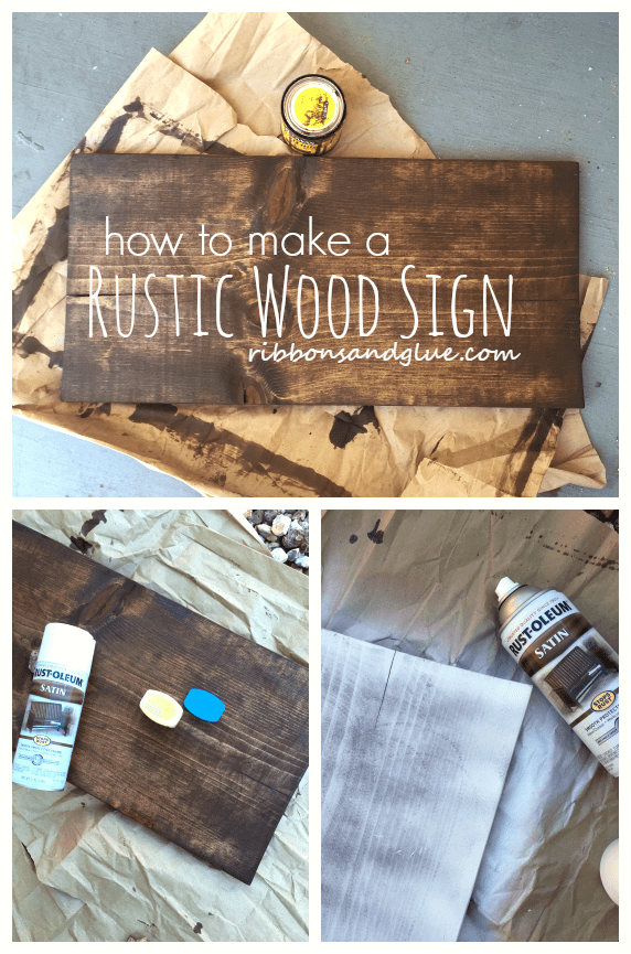 How To Make A Plain Wood Board Look Rustic Stains Sprays And All
