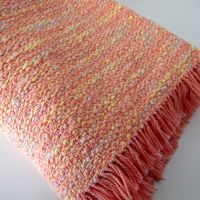 Hand Woven Baby Blanket in Peach and Tangerine | Peach ...