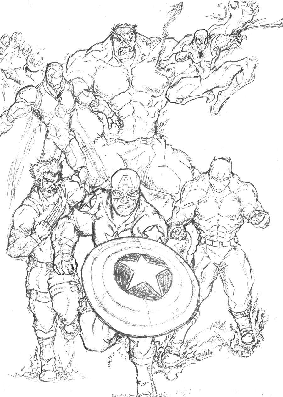 Marvel Super Hero Coloring Pages   coloring pages ...