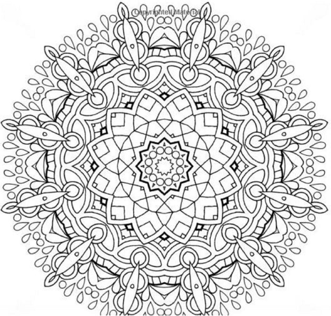 Stress Relief Mandala Coloring Pages Printable Sketch