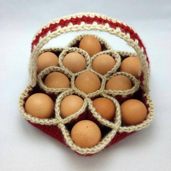 Crochet Pattern for Bakers Dozen Egg Basket Egg Carrier