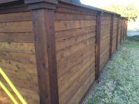 Horizontal Cedar Fence W/ Boards Lapped | Horizontal ...