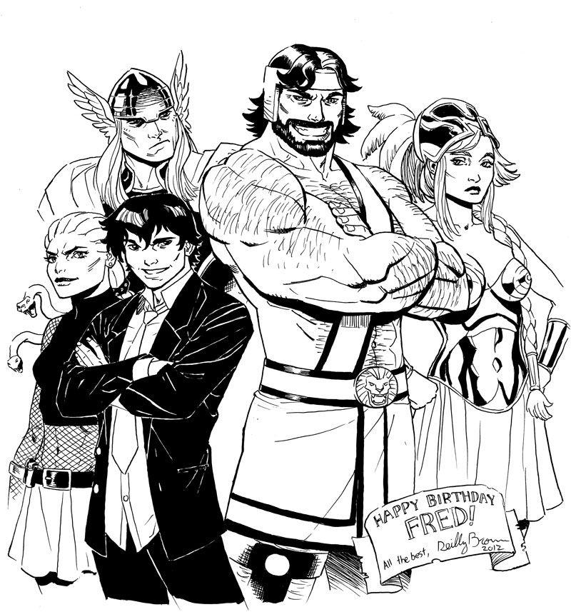 Hercules, Thor, Athena, Amadeus Cho & Daphne by Reilly