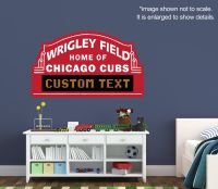 Chicago Cubs Custom Marquee - Vinyl Wall Decal Room Decor ...