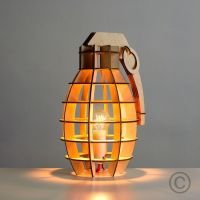 Decorative Hand Grenade Style Wooden Table Lamp | Bedroom ...