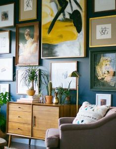 Gallery wall by dabito for west elm also we love   big new of art click the link in our profile rh pinterest