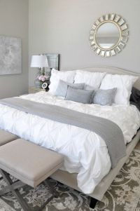 Neutral Master Bedroom Refresh | White bedding, Master ...