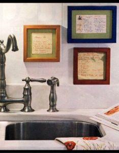 Frame your mother   grandmother handwritten recipes in kitchen love this idea also rh pinterest