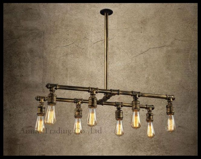 Vintage Style Retro Rustic Bar Table Res Chandelier Boutique Creative Personality Living Room Lamps Edison Water