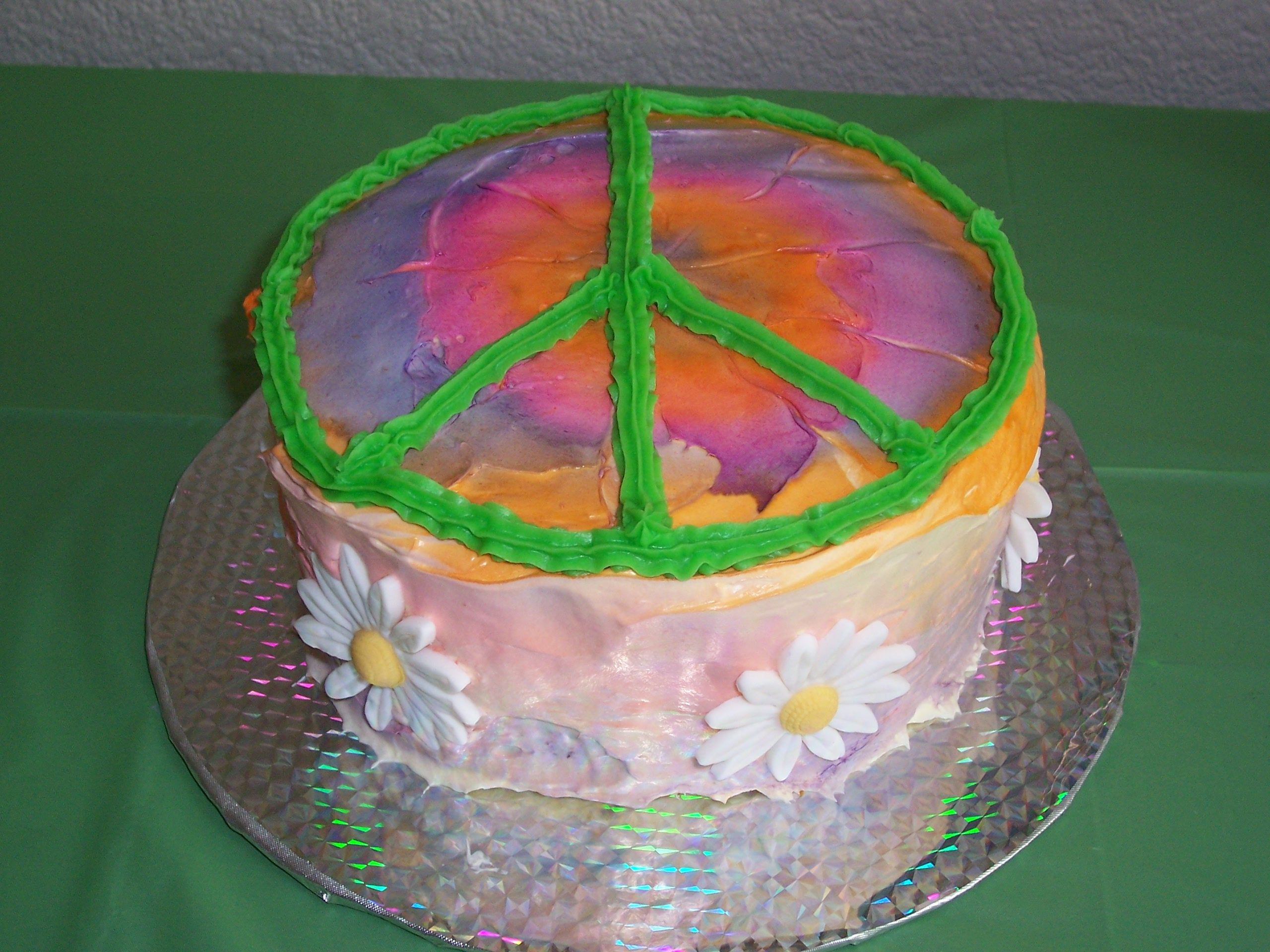 Tie Dye Cake For 70 S Party