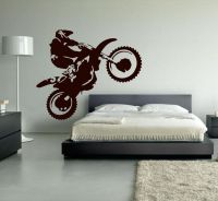 Motocross Wall Decal Dirt Bike Decor Motocross Decor Dirt ...