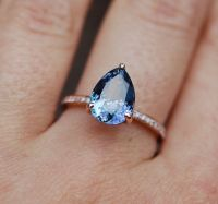Tanzanite Ring. Rose Gold Engagement Ring by EidelPrecious