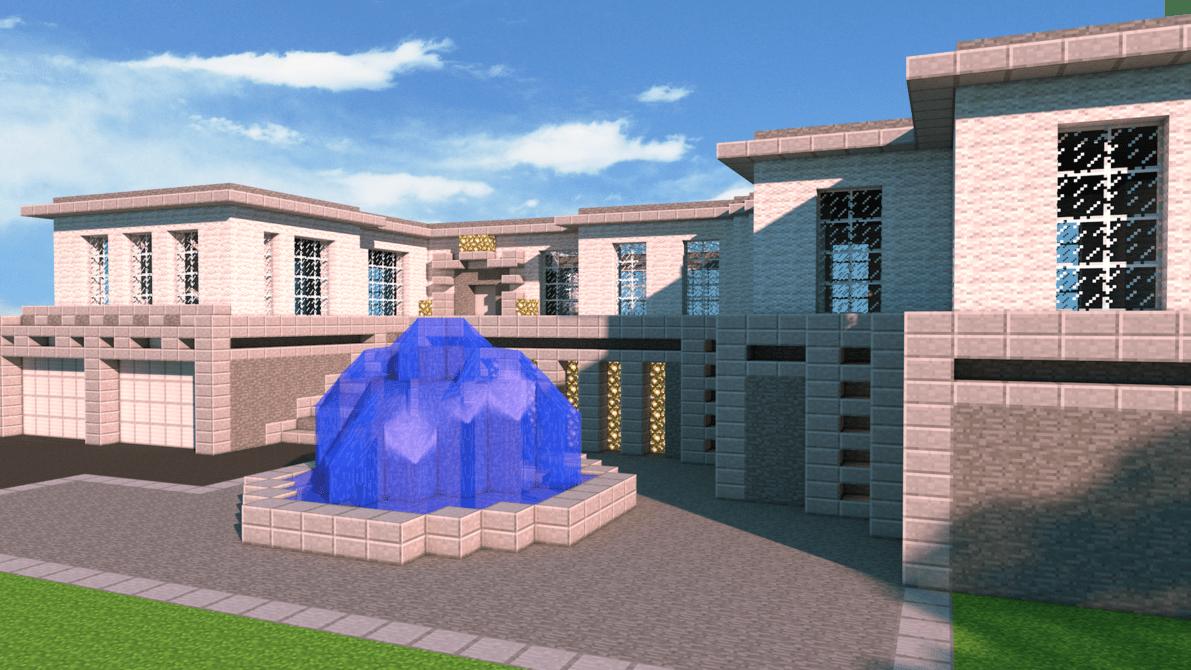 Minecraft The Modern House By PoPlioP On DeviantART MINECRAFT