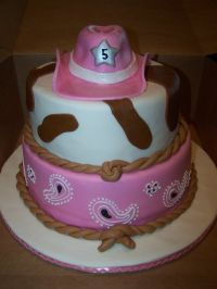 cowgirl cakes | Cowgirl Pink Cake  Children's Birthday ...