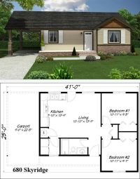 Mother-in-law cottage floor plan.:   coolest house on the ...