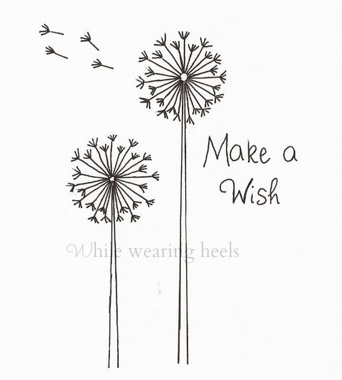 FREEBIE!!!While Wearing Heels: Make a Wish Dandelion